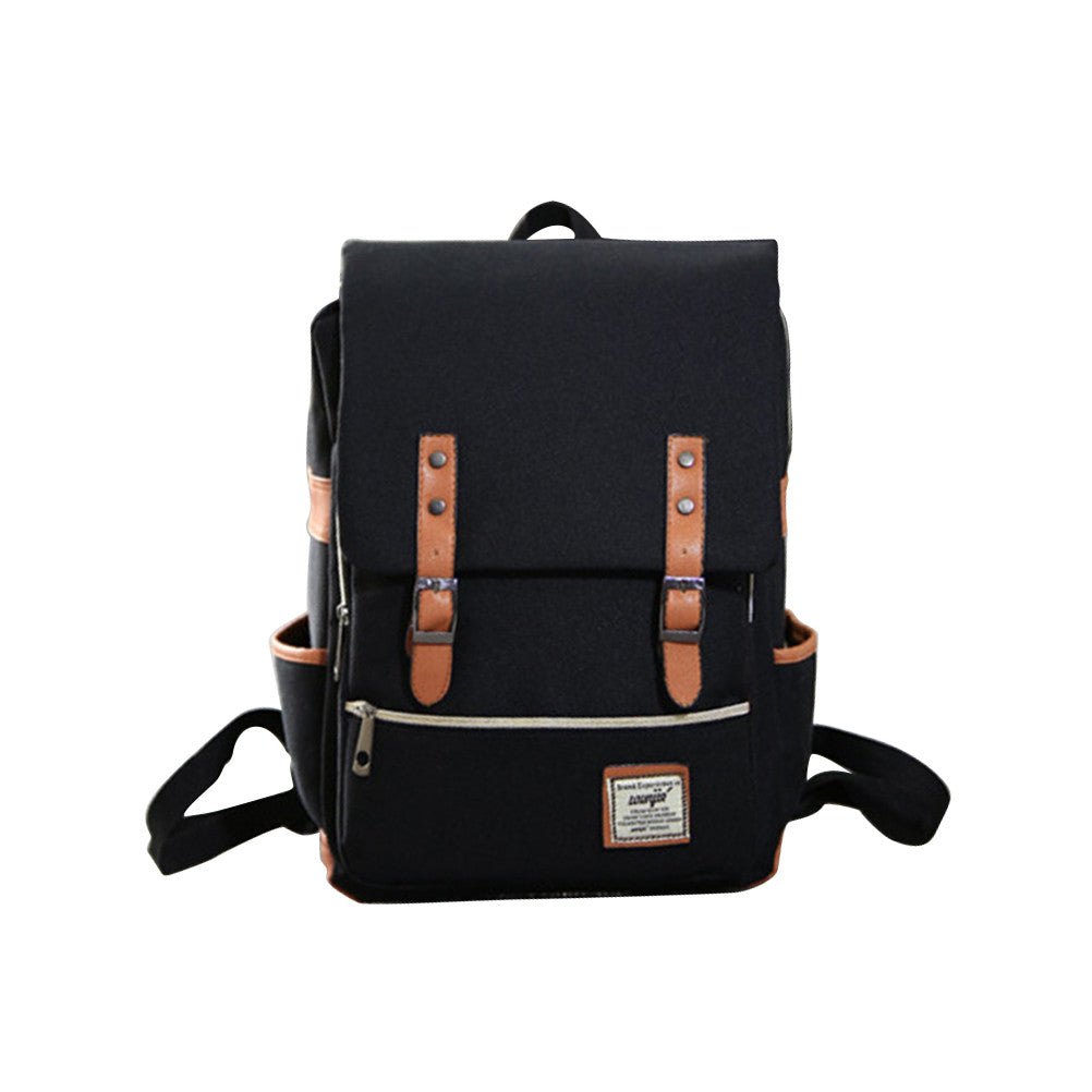 Canvas Vintage Backpack Travel Backpack Daypack Hiking Camping School Rucksack for Women Men