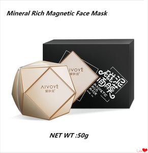 Mineral Rich Magnetic Face Mask Pore Cleansing Removes Skin Impurities Magnetic Rods + Magnet Seaweed Mask Skin Care