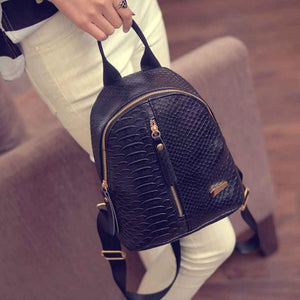 Women Leather Backpacks Schoolbags Travel Shoulder Bag