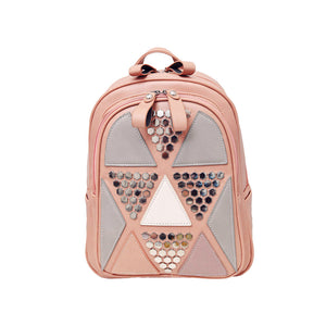 Women's Bag Korean Version Trendy Shoulderbag Backpack Female PU Leather Backpack Leisure Travel School Bag