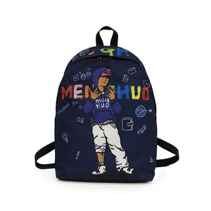 Unisex Printed Graffiti Backpack Casual Travel Backpack Daypack School Rucksack