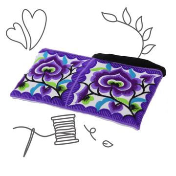 Small Floral Wristlet (Purple)
