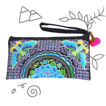 Atlas Moth Clutch (Soft Purple & Blue)