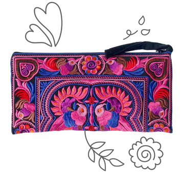 Medium Twin Bird Clutch (Pink)