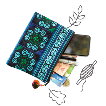 Cosmetic Pouch (Blue)