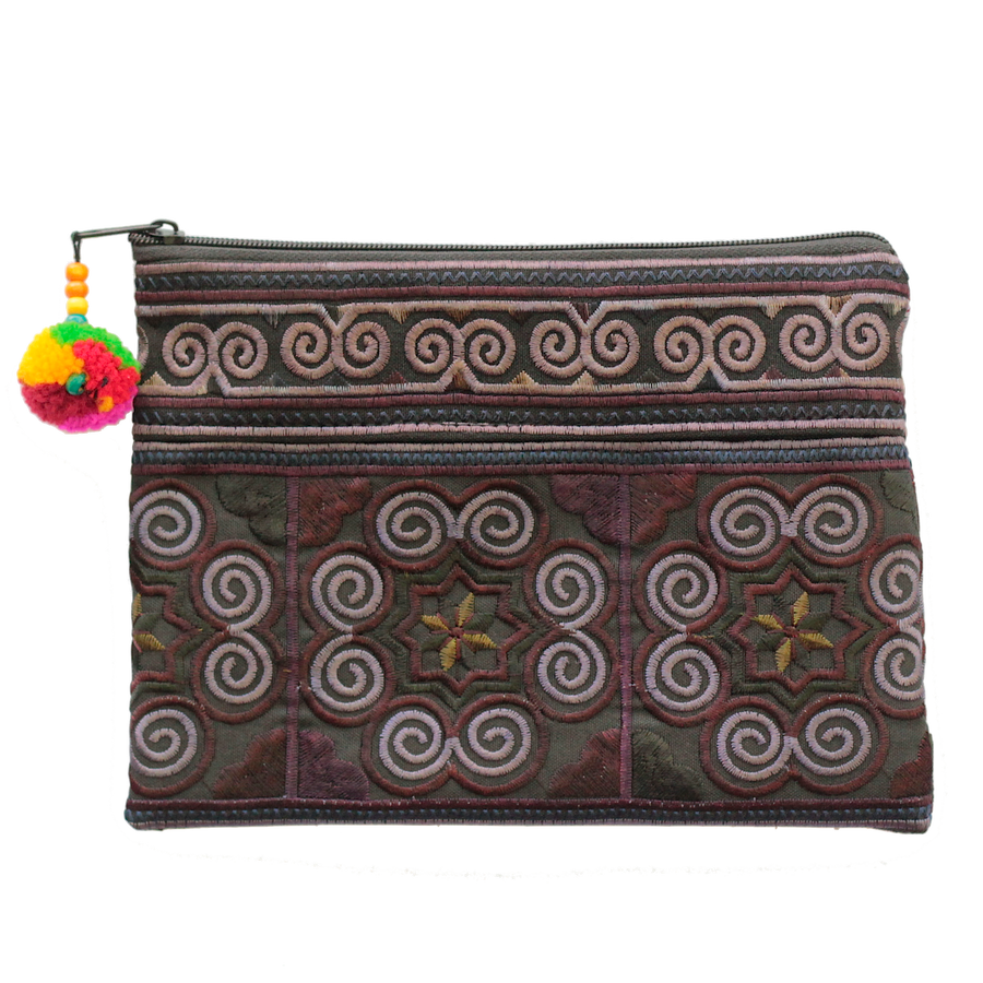 Sabai Jai Black Cosmetic Pouch bag