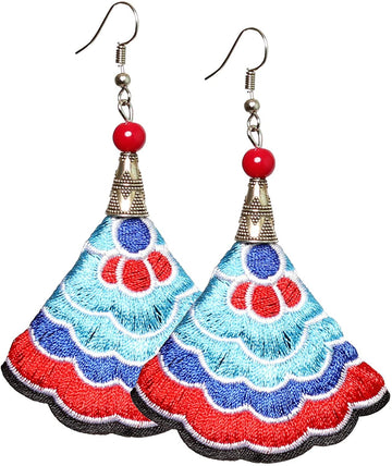 Boho Earrings (Blue/Red)