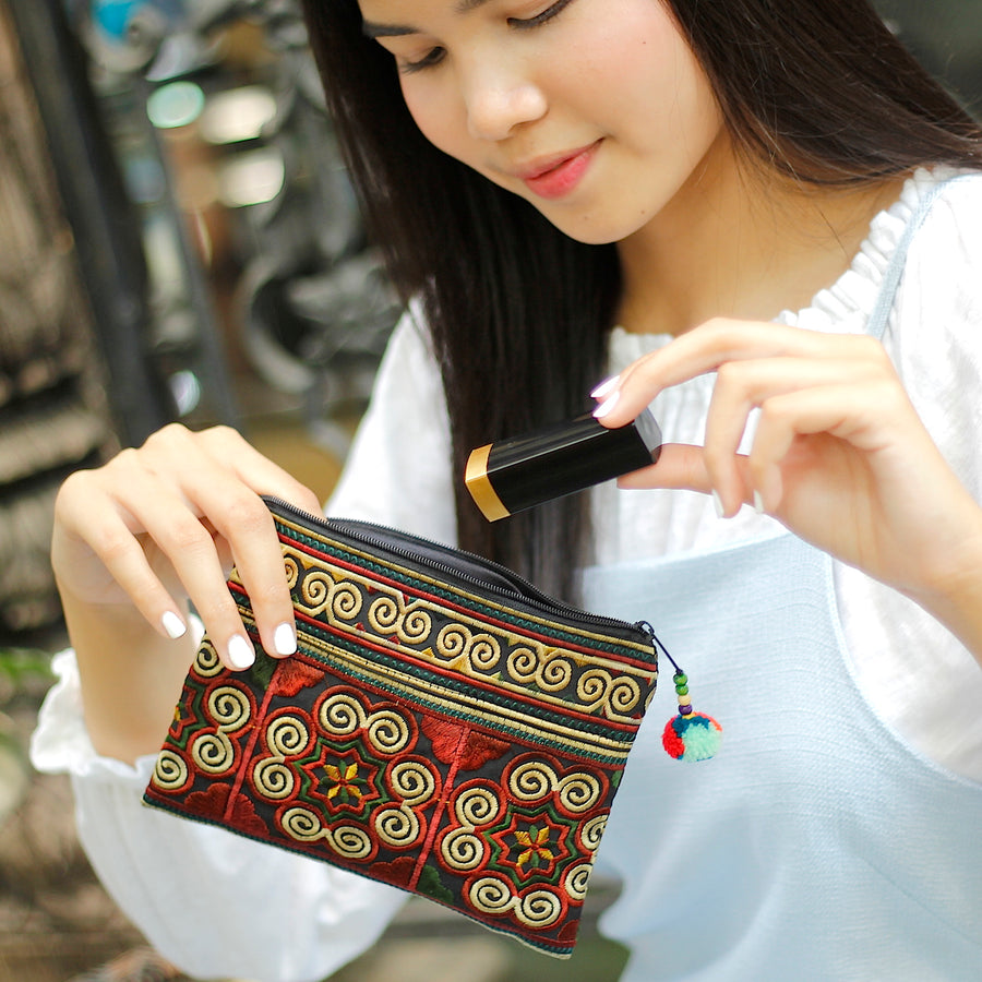 Sabai Jai Chocolate Cosmetic Pouch makeup
