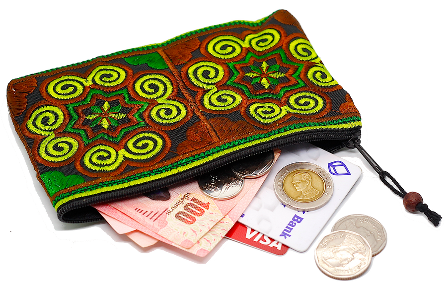 Sabai Jai Green Coin Purse