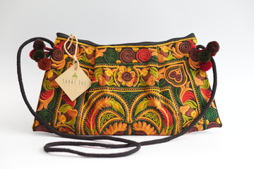 Sabai Jai Gold & Ivy Twin Bird Shoulder Bag