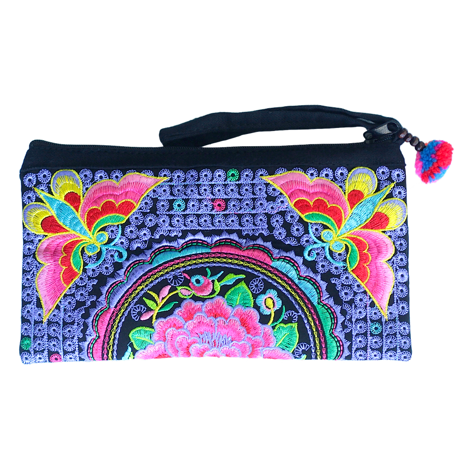 Sabai Jai Soft Purple & Pink Atlas Moth Clutch