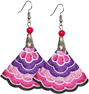 Boho Earrings (Purp/Pink)