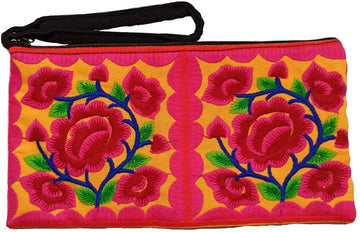 Small Floral Wristlet (Pink/Yellow)