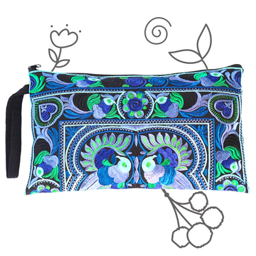 Large Twin Bird Clutch (Blue)