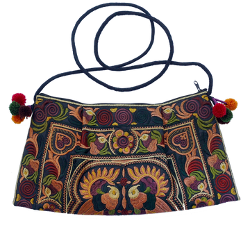Sabai Jai Chocolate Twin Bird Shoulder Bag
