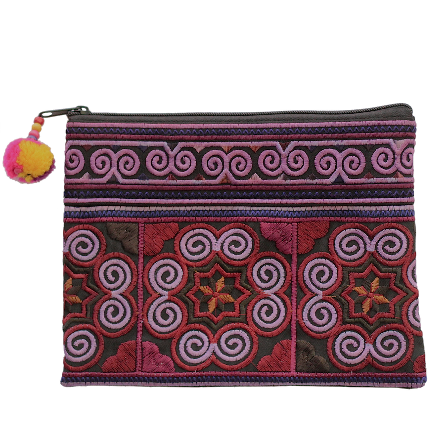 Sabai Jai Dark Violet Cosmetic Pouch bag