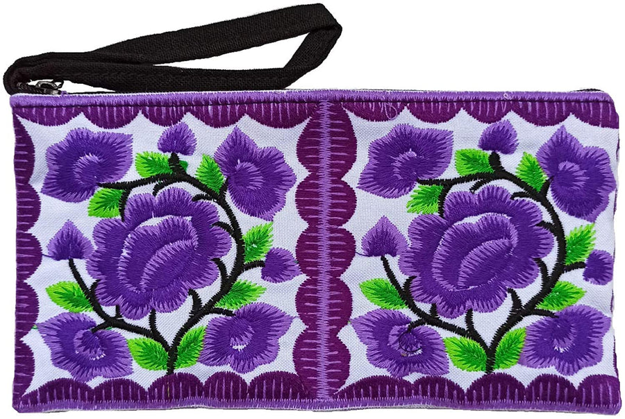 Small Floral Wristlet (Purple v2)