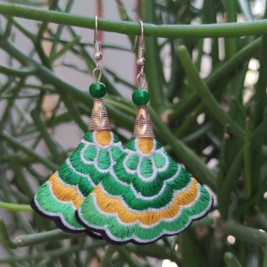 Boho Earrings (Green/Yellow)