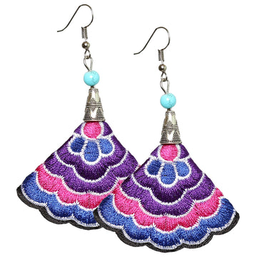 Boho Earrings (Purp/Pink/Blue)