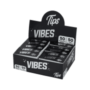 Vibes Rolling Tips Box - 50 Count Booklets