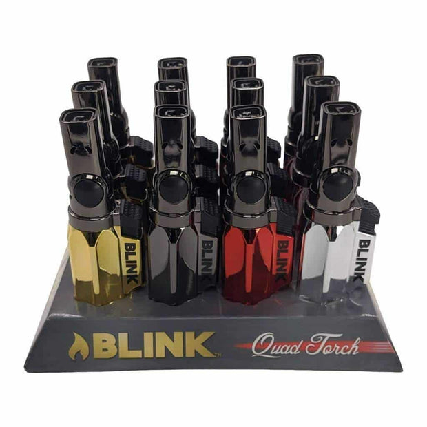 Blink Quad Torch 4 Flame - 12 Count Display