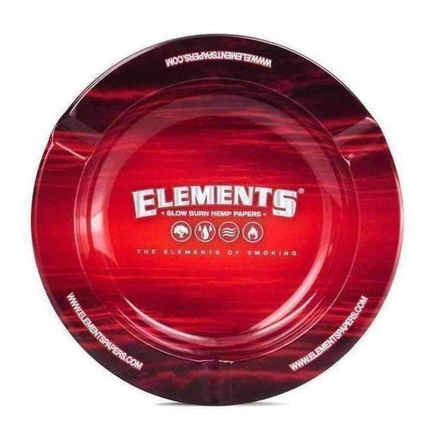 Elements Red Metal Ashtray
