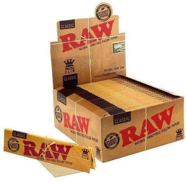 Raw King Size Slim: Classic 50 Pack