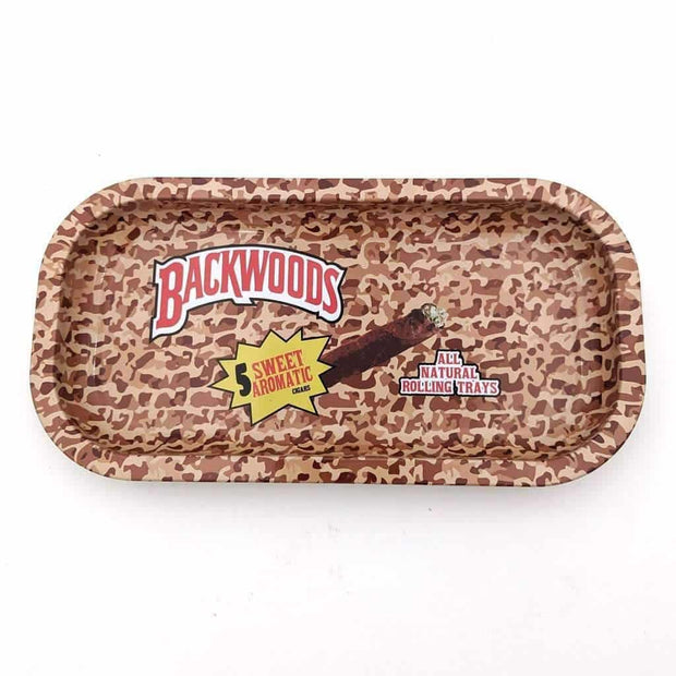 Small Metal Rolling Trays - Backwoods Variety