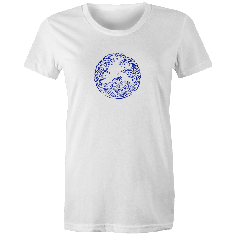 Waves - Womens Fairtrade Organic Crew Tee