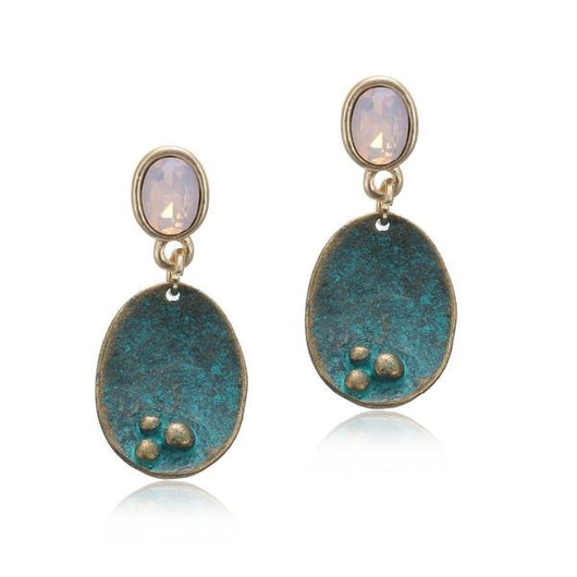 Fashion Jewelry - Earrings  - Antique Style Drop Dangle Earrings with Crystal Jewelry - Blissful Delirium