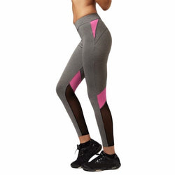 Legging - Women Yoga Pants Hollow Out Net Yarn Splicing Yoga Capris