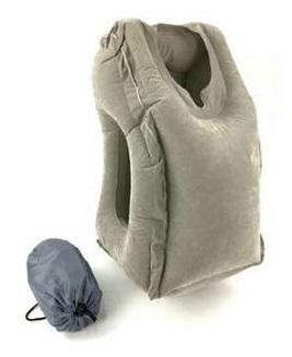 Amazing Inflatable Travel Pillow for Sleeping On Planes or Work Desk - Blissful Delirium