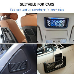 Pocket Car Storage | Flexible Elastic Mesh Storage Organizer
