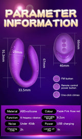 Women U-Shape Double Vibrator - Blissful Delirium