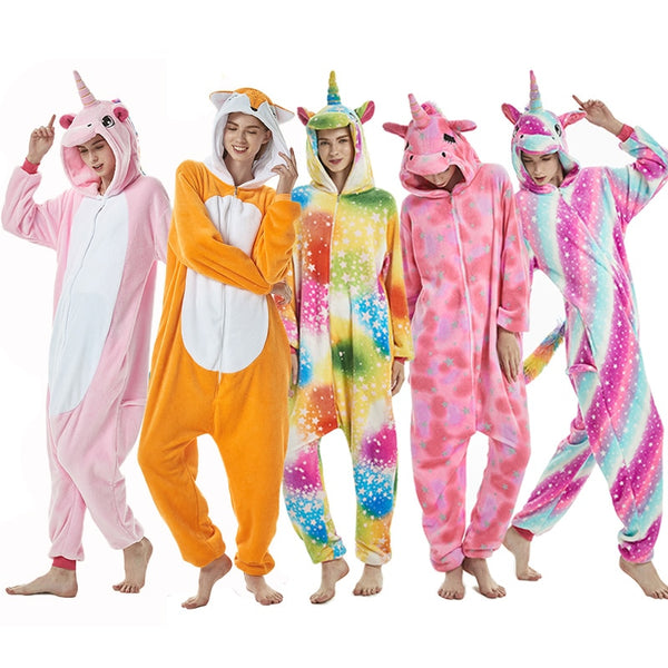 Unicorn Pajamas Animal Costume Cosplay Onesie - Blissful Delirium