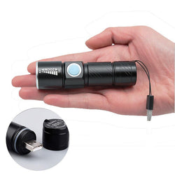 USB Handy Powerful  LED Flashlight - Blissful Delirium