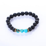 Natural Chakra Lava Stone With Healing Balance Beads Bracelet - Blissful Delirium