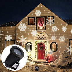 Outdoor LED Light Projector with Snowflake Effect for Home Garden & Landscape Lighting - Blissful Delirium