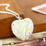Fashion Jewelry - Necklaces - Glowing in Dark Luminous Hollow Heart Necklaces - Blissful Delirium
