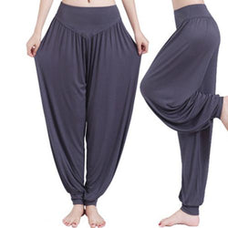 Comfort Arab Style Boho Wide Leg Yoga Pants Bamboo Fiber - Blissful Delirium
