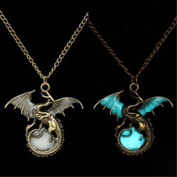 Fashion Jewelry - Necklaces - Glowing in Dark Game of Throne Dragon Punk Luminous Dragon Pendants & Necklaces - Blissful Delirium