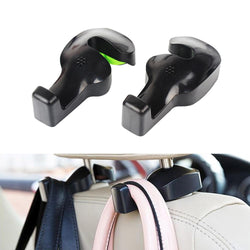 Universal Car Vehicle Back Seat Headrest Hanger Holder Hook (Black -Set of 2) - Blissful Delirium