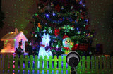 Laser Projector Stars Red Green Showers lights Outdoor Waterproof IP65 Garden Decoration Static Twinkle with RF remote - Blissful Delirium