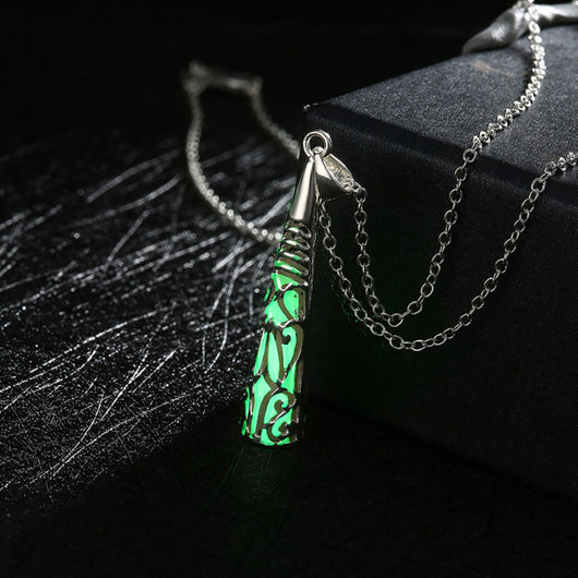Fashion Jewelry - Necklaces - Glowing in Dark Phosphors Geometric Pendant - Blissful Delirium