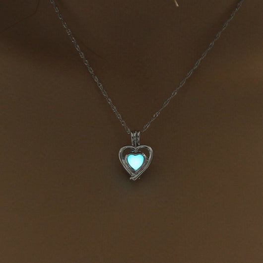 Fashion Jewelry - Necklaces - Glowing in Dark Lovely Heart Shape Luminous Pendant - Blissful Delirium