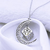 Fashion Jewelry - Necklaces - Glowing in Dark Silver Plated Chain Moon Square Box Luminous Pendants - Blissful Delirium