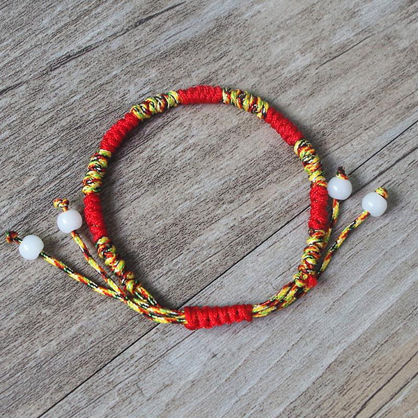 Handmade Tibetan Buddhist Lucky Knots Rope Bracelet - Blissful Delirium