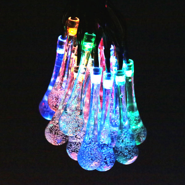 SOLAR-POWERED RAINDROP STRING LIGHTS - Blissful Delirium