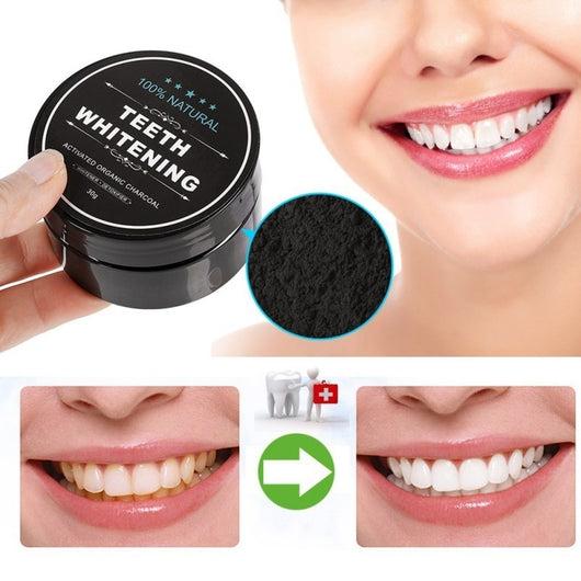 100% Natural Carbon Powder Tooth Polish | Teeth Whitening | Oral Health - Blissful Delirium