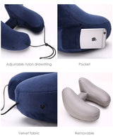 H-shaped Inflatable Hoodie Pillow with Pocket - Blissful Delirium